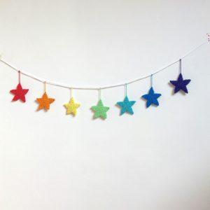 Guirlande ribambelle de petites étoiles multicolores…