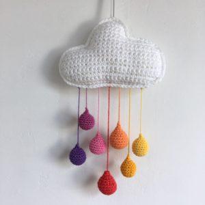 Mobile nuage couleurs chaudes