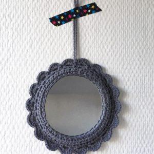 Miroir Rond Gris