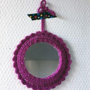 Miroir Rond Pourpre