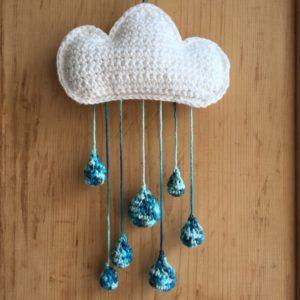 Mobile Nuage il pleut du bleu