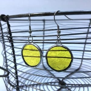 Boucles d'oreilles pastilles jaunes