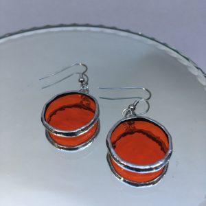 Boucles d'oreilles pastilles oranges