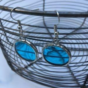 Boucles d'oreilles pastilles turquoises