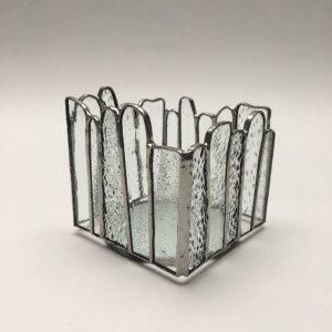 Photophore vitrail Tiffany blancs textures