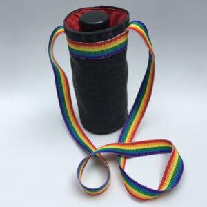 Sac porte-gourde denim recycle rainbow