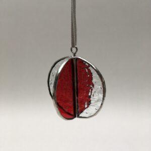 Sphere 4P – vitrail Tiffany – blanc-rouge