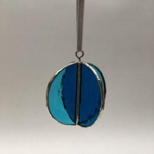 Sphere 4P – vitrail Tiffany – bleu-bleu